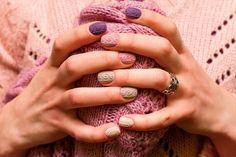 Самый красивый вязаный маникюр 2018-2019 - фото. Модный вязаный дизайн ногтей - лучшие идеи вязаного узора. Вязаные ногти, маникюр свитер осень-зима - фото.