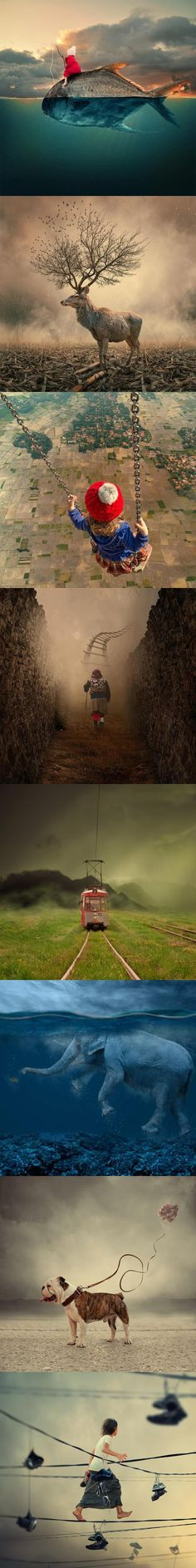 This collection is thought provoking.  ~  Fotografías surrealistas que no existen. Imágenes por Ionut Caras.