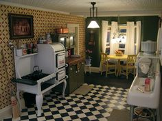 1920's inspired kitchen by the brilliant Otterine