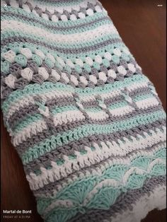 Crochet Afghans, Baby Afghan Crochet Patterns, Crochet For Beginners Blanket, Crochet Motifs, Crochet Squares, Baby Blanket Crochet, Crochet Blankets, Baby Blankets, Afghan Blanket