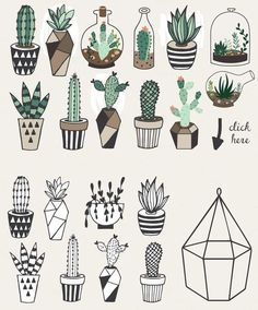 Gorgeous succulents, cactus planner doodles and bullet journal drawings - Doodle and Draw - Cactus Doodle Art, Doodle Drawings, Cute Drawings, Cactus Drawing, Plant Drawing, Succulents Drawing, Planner Doodles, Bujo Doodles, Bullet Journal Inspiration