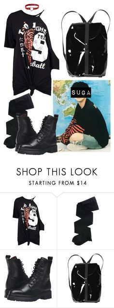 """Suga"" by flaviaazevedo2000 ❤ liked on Polyvore featuring Boohoo, Gerbe, Frye, Monki, bts, Suga, bias and yoongi"