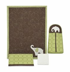 Love the elephants and color!! Unisex?  Amazon.com: Carter's Green Elephant 4 Piece Crib Bedding Set: Baby