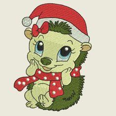 Christmas time hedgehog 09 | Spookies Treasures