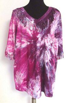 #Fringe #TieDye #Tshirt #Top #PlusSize #4X #ZArtInc #Fashion #Apparel #Shopping #eBay