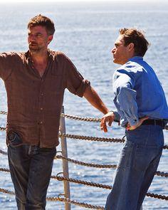 Paul Thomas Anderson & Joaquin Phoenix on the set of The Master.
