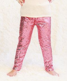 Look what I found on #zulily! Pink Metallic Sequin Pants - Infant, Toddler & Girls #zulilyfinds