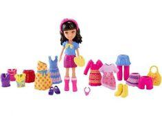 Polly Pocket Boneca e Roupinhas - Lila - Mattel com as melhores condições você encontra no Magazine Edmilson07. Confira!