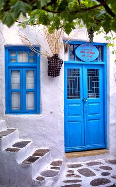 Mykonos Greece door