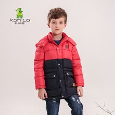 128.00$  Buy now - http://alim0h.worldwells.pw/go.php?t=32485900973 - KAMIWA 2016 Boys Winter Jackets and Coats Boys Clothes Down Coats Hooded Thicken Parkas Brand Children Clothing Kids Clothes