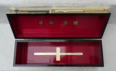 .CAJA DECO madera con oro 39x12x12 (laqueada)