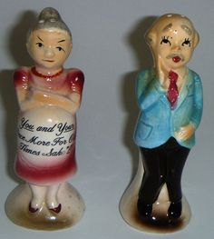 Comical Vintage Salt and Pepper Shakers by Koolcollectables, $14.50