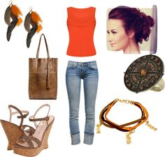 orange and browns, created by aimeebzirhut on Polyvore