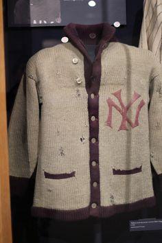 Vintage Inspired Baseball Knits Inspiration - NY Giants sweater at the Baseball Hall of Fame