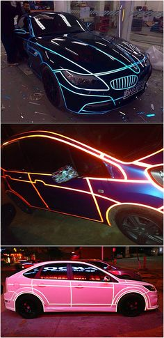 Fluorescent Neon Car 3M Tape DIY Decor