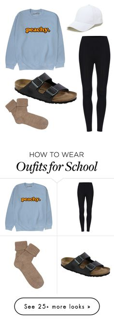 """School Outfit"" by jillianvanaken on Polyvore featuring Birkenstock, Sole Society and Falke"