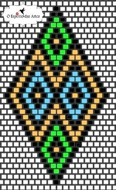 Espírito das Artes - Jewellery with Beads: Brick Stitch EarringsFree Pattern Bead Embroidery Patterns, Bead Crochet Patterns, Beading Patterns Free, Seed Bead Patterns, Bead Embroidery Jewelry, Beaded Embroidery, Bead Jewellery, Seed Bead Jewelry, Jewelry Making Beads