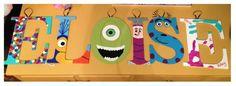 Disney Pixar Up and Monster's Inc. inspired nursery letters!  #FreakingAdorable