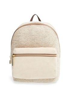 Suede and Wool Backpack #giftsforher