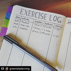 Exercise log idea