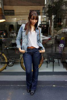 Look do dia: jeans com jeans