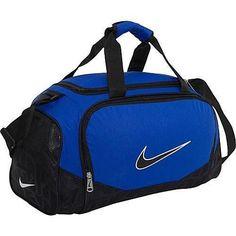 beb1422e096 Nike Duffel Bag Blue Black Brasilia 5 Small Gym Travel Duffle Men Women Boy  Girl for sale online | eBay