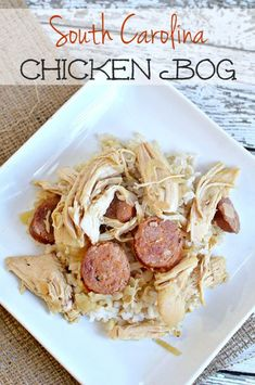 Carolina Chicken Bog South Carolina Chicken Bog recipe made with - a quick weeknight meal that your family will love! More on South Carolina Chicken Bog recipe made with - a quick weeknight meal that your family will love! Turkey Recipes, Chicken Recipes, Chicken Perlo Recipe, Dinner Recipes, Dinner Ideas, Chicken Meals, Sausage Recipes, Meal Ideas, Chicken Bog