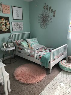 Coral, Mint & Gold Bedroom Wall Color: Breaktime by Sherwin - Williams - Teen Bedroom ideas - - Bedroom Wall Colors, Gold Bedroom, Teen Bedroom, Bedroom Decor, Bedroom Ideas, Gold Nursery, Mint Bedroom Walls, Bedroom Themes, Bedroom Furniture