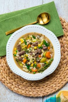 Adding canned callaloo, artichokes and okra to your grocery list is a very good idea. Stuffed Mushrooms, Mushroom Soup Recipes, Barley Soup, Sunday Meal Prep, Batch Cooking, Artichokes, Okra, Beef Recipes