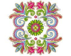 Paisley Flowers Embroidery Design. Machine Embroidery Design. Beautiful Flowers. Paisley Flower Patt Paisley Embroidery, Flower Embroidery Designs, Flower Patterns, Machine Embroidery Designs, Embroidery Patterns, Paisley Flower, Image List, The Design Files, Pattern Blocks