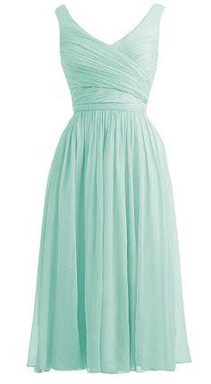 *Maillsa 2014 New Women's Deep V-Neck Bridesmaid Dress, Party Dress PP 20 at Amazon Women's Clothing store: