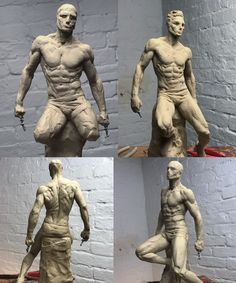 Decided to dust off my clay tools, from model about 4 hours total. Sculpture Clay, Figurative Sculpture, Sculpture Art, Character Design, Art Reference Poses, Drawings, Anatomy Sculpture, Human Figure, Sculpture Art Clay