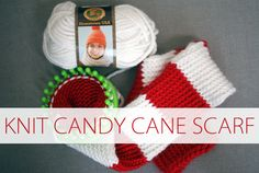 After I finished Jackson's Santa hat, I knew I wanted to try making a scarf. The fluffy red and white yarn I used were so pretty together that I couldn't resist making a candy cane scarf out of them! This is super easy, although it takes a bit longer than a hat just because of …