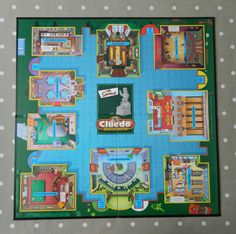 The Simpsons Cluedo Game BOARD ONLY, Spare Game Pieces, Parts, Wall Art, Crafts