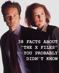 """38 Facts About """"The X-Files"""" You Probably Didn't Know @jillr246"""