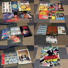 BIG NES SNES SEGA SATURN GENESIS ATARI VIDEO GAME INSERT POSTER LOT MANCAVE ROOM #Nintendomore