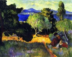 Henri Manguin -  Walk at St. Tropez, 1905