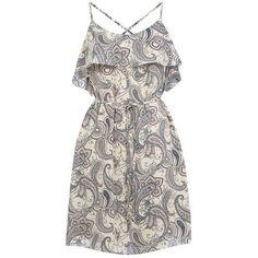 Oasis Paisley Bardot Soft Shift Dress, Multi ($20) ❤ liked on Polyvore featuring dresses, long-sleeve shift dresses, sleeveless shift dress, floor length dresses, maxi dresses and shift dress
