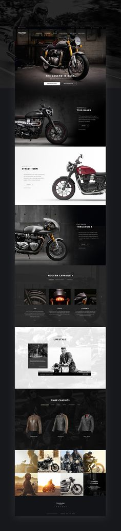 """다음 @Behance 프로젝트 확인: """"Triumph Classics Website"""" https://www.behance.net/gallery/41015493/Triumph-Classics-Website"""