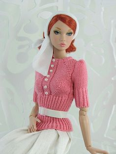 gwendolyn's treasures dolls | Pink Sweater cls by Gwendolyns Treasures, via ... | DollFashion: Suit ...