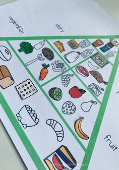 Free Printables All About The Food Pyramid. Help children sort, match and play with foods, food groups and the food pyramid.