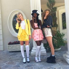 130 Winning Group Halloween Costume Ideas via Brit + Co Clueless Halloween Costume, 90s Costume, Halloween Cosplay, Halloween Outfits, Zombie Costumes, Cher Clueless Costume, Family Halloween, Maleficent Costume, Halloween Costumes With Friends