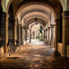 Pasaje de los Seises (Passage of the Seises), the entrance to the Plaza del Cabildo (El Cabildo Square). Sevilla, Spain.