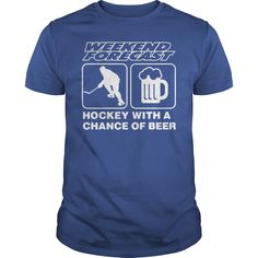 #HOCKEY WITH A CHANCE OF #BEER. 100% Printed in the U.S.A - Ship Worldwide. Not sold in stores. Guaranteed safe and secure checkout via: Paypal | VISA | MASTERCARD? | YeahTshirt.com