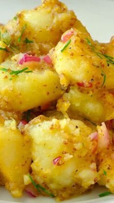 Warm Honey Dijon Potato Salad ~ Simple, quick, tasty...  The leftovers can be warmed or served cold too