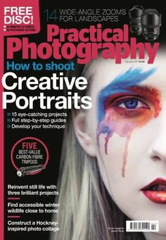 In this issue:    FREE DISC! Simple skills for graphic city scenes with 44 minutes of videos and 26 photoshop actions!    How to shoot creative portraits  <ul>   	<li>15 eye-catching projects</li>   	<li>Full step-by-step guides</li>   	<li>Develop your technique</li>  </ul>  14 wide-angle zooms for landscapes    Five best-value carbon fibre tripods    Reinvent still life with three brilliant projects    Find accessible winter wildlife close to home    Construct a Hockney - inspired photo…