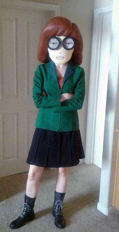 The Daria Costume by Jaimie Jenkins is Made Out of Paper Mache #popculture #costumes trendhunter.com