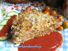 Húsos rizstorta Cook Books, Mozzarella, Baked Potato, Potatoes, Meals, Baking, Ethnic Recipes, Food, Bread Making
