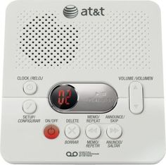 at t 1740 digital answering system with time