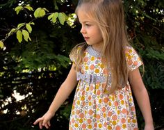 Dress pattern, Little Girls dress, instant digital PDF download, sizes to fit ages 2-6, Lillie Mae Dress, includes photo tutorial